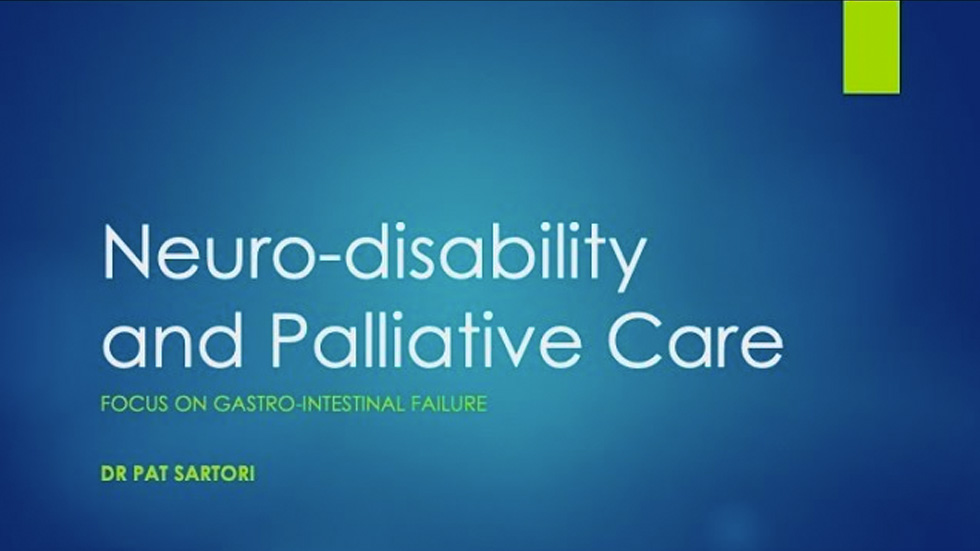 Neurodisability and Palliative Care: focus on gastrointestinal failure